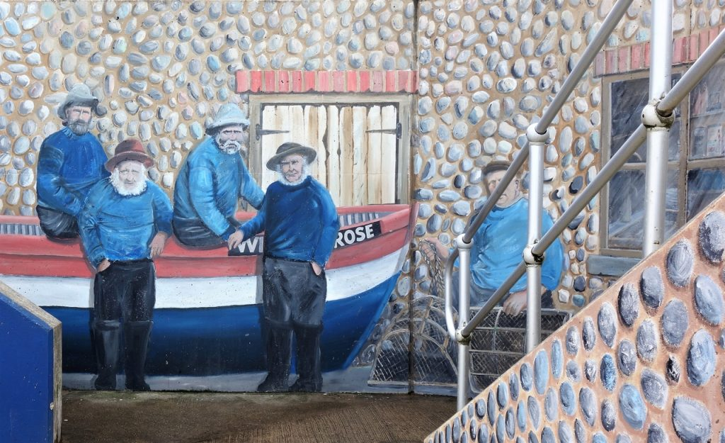 Coastal Road Trip, Sheringham, The Mo Museum, Mural, Fishermen