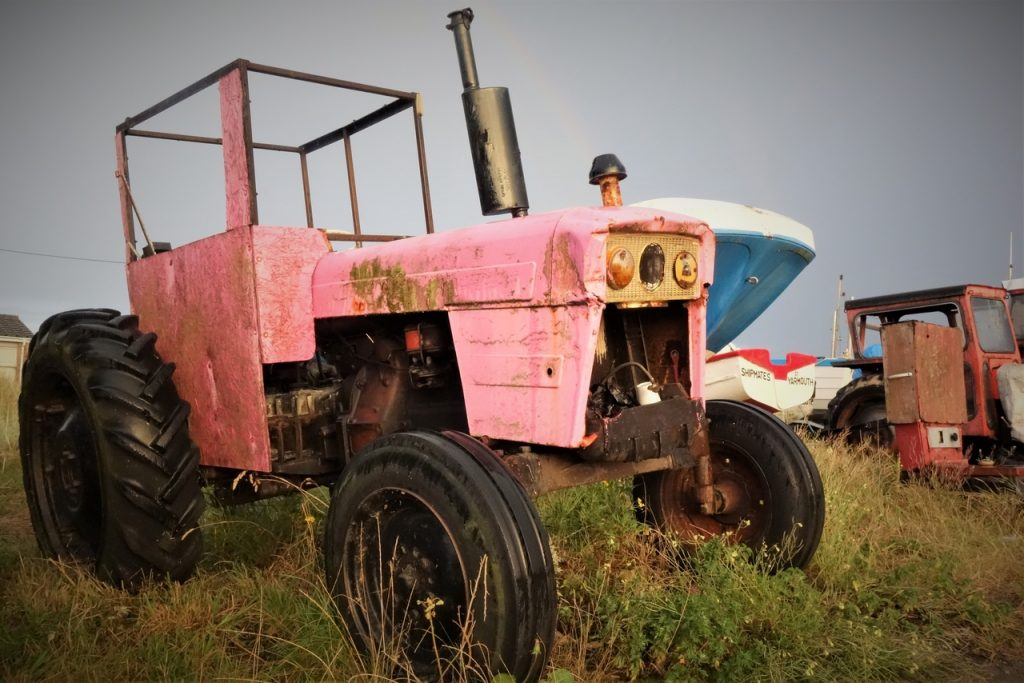Coastal Road Trip, Caister-on-Sea, Beach, Pink Tractor