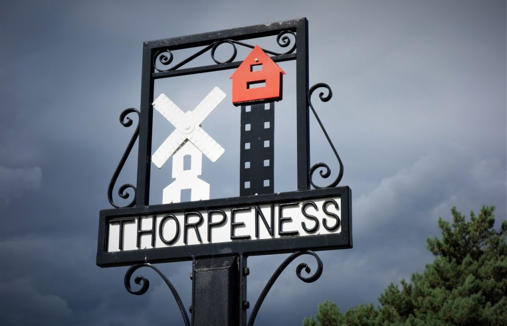 Coastal Road Trip, Thorpeness, Sign, Leiston, Suffolk