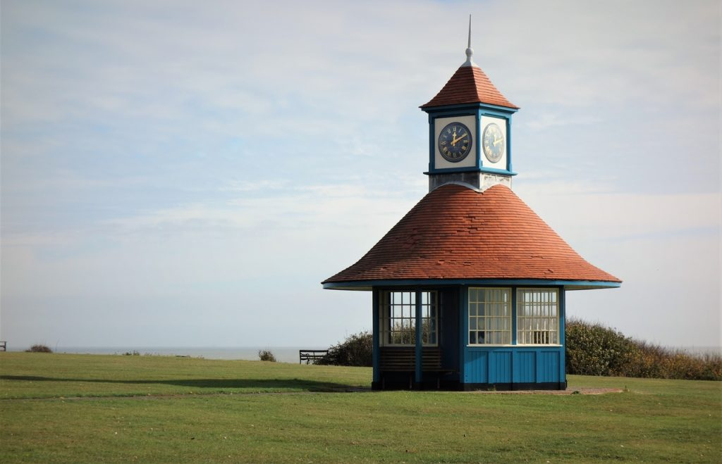 Coastal Road Trip, Frinton On Sea, Esplanade, Frinton Beach, Clock, The Clock Tower Shelter