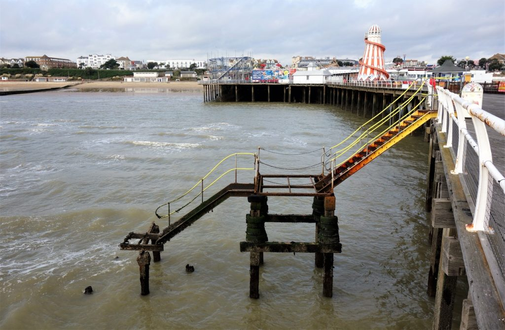 Coastal Road Trip, Clacton-on-Sea, Clacton Pier, Steps