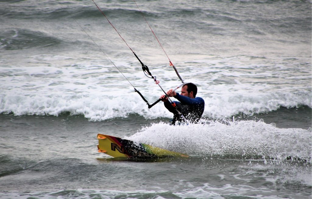 Coastal Road Trip, Beadnell Beach, Kite Surfing