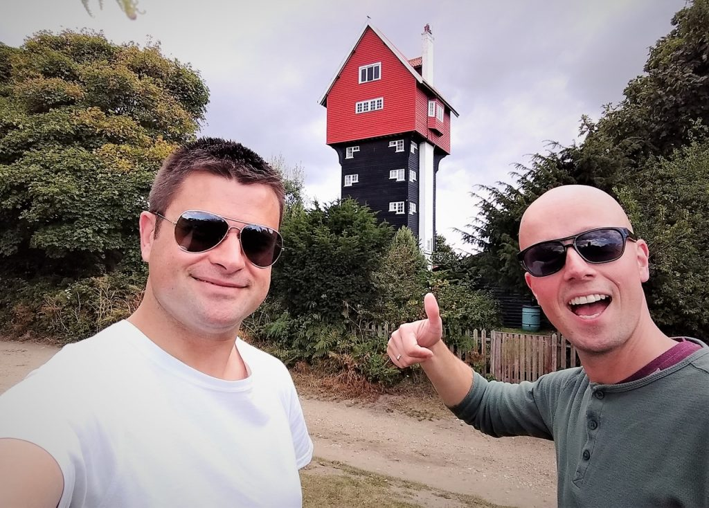 Coastal Road Trip, Thorpeness, House in the Clouds, Julian, Jarno, Leiston, Suffolk