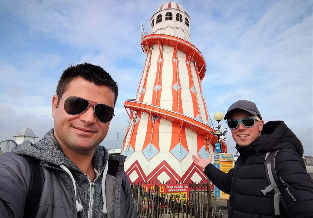 Coastal Road Trip, Clacton-on-Sea, Clacton Pier, Helter Skelter, Helter-skelter, Julian, Jarno
