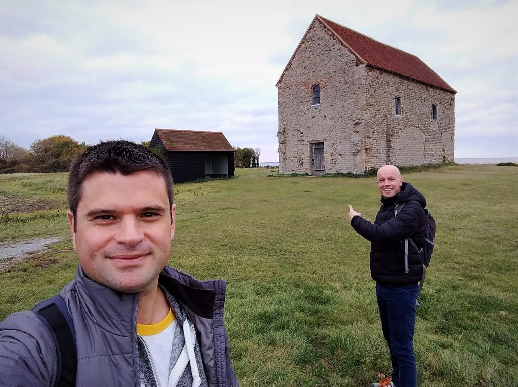 Coastal Road Trip, Bradwell-on-Sea, St Peter's Chapel, Saltmarsh Coast, Julian, Jarno