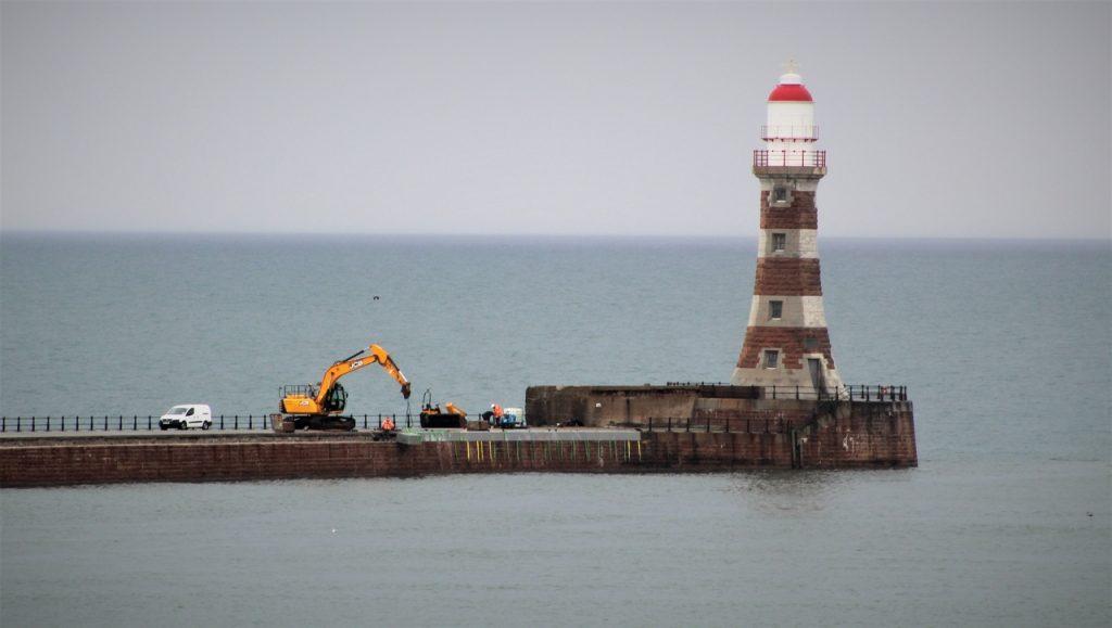 Coastal Road Trip, Seaburn, Roker Lighthouse, Roker Pier, Digger, Sunderland