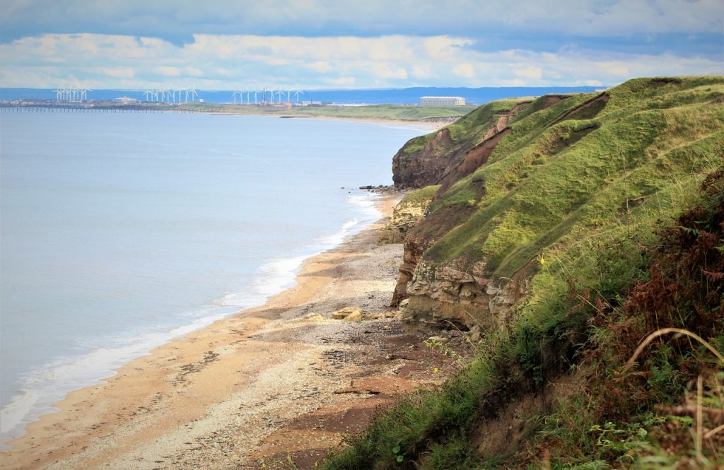 Coastal Road Trip, Blackhall Rocks, View South East to Hartlepool