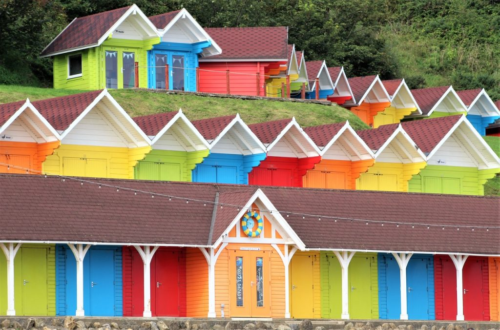 Coastal Road Trip, Scarborough, Beach Huts, Brightly Coloured