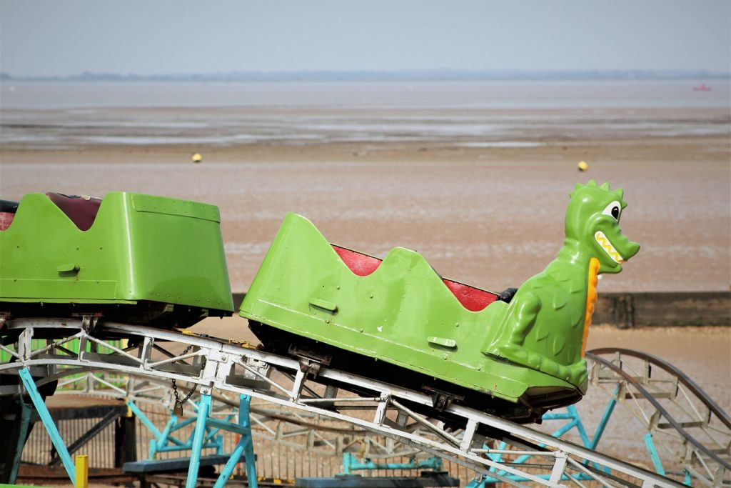 Coastal Road Trip, Cleethorpes, Rollercoaster, Green Dragon