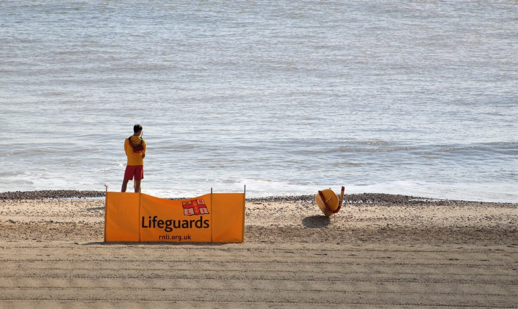 Coastal Road Trip, Lowestoft, South Beach, Lifeguard