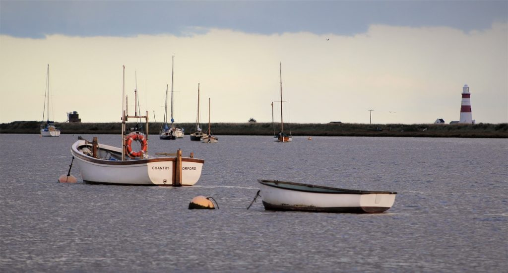 Coastal Road Trip, Orford, Orfordness Lighthouse, Quay, River Alde, Nature Reserve, Suffolk, Boats