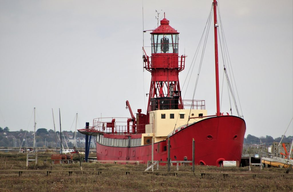 Coastal Road Trip, Tollesbury, Trinity Lightship