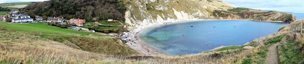 Coastal Road Trip, Lulworth, Cove, Panorama