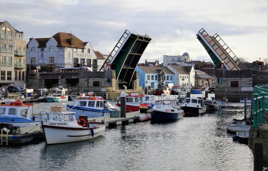 Coastal Road Trip, Weymouth, Drawbridge, Bridge, Harbour, Quay