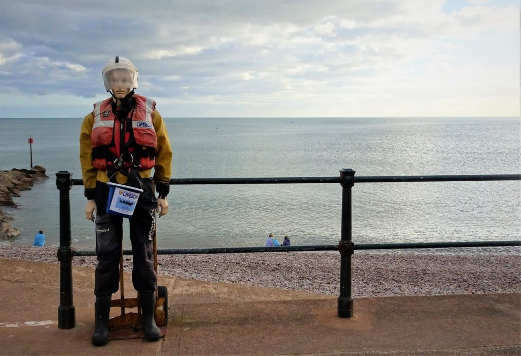 Coastal Road Trip, Sidmouth, Beach, RNLI, Lifeboat Man, Dummy