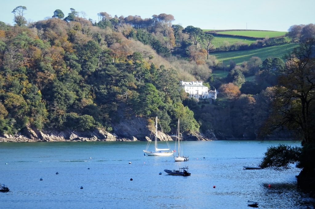 Coastal Road Trip, River Dart, Kingswear, White House, Castle Road, Boats