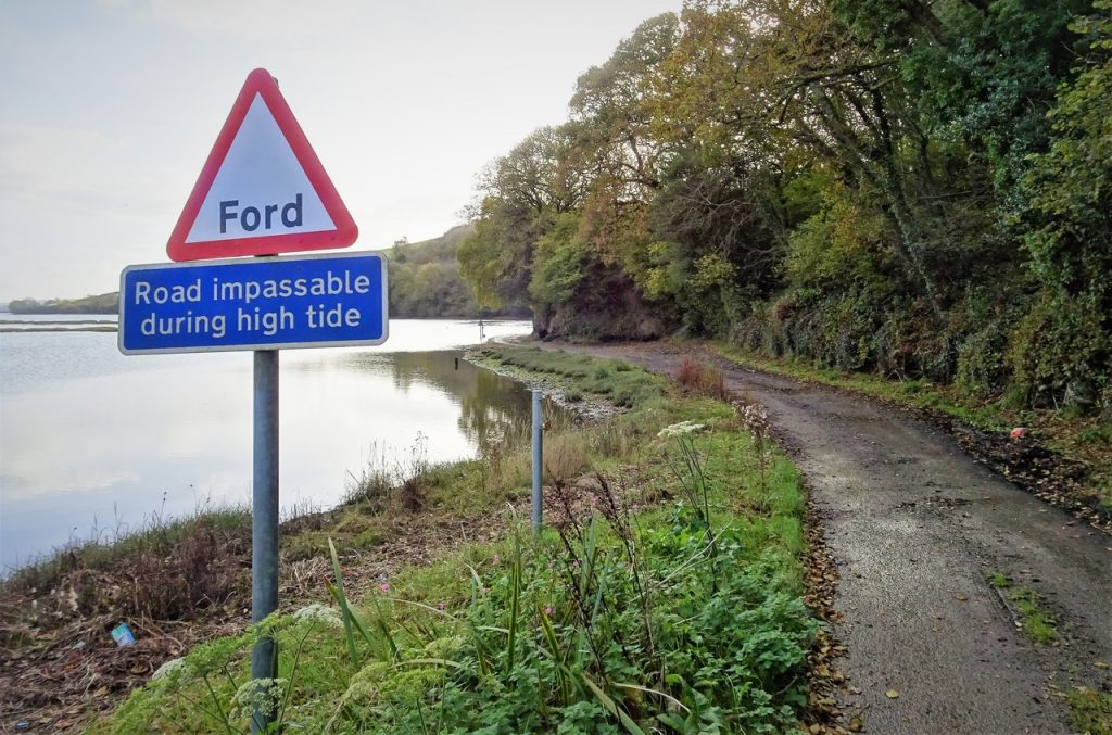 Coastal Road Trip, St John's Lake, Ford, Sign, Road