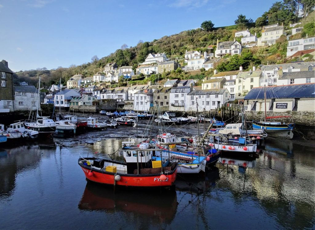 Coastal Road Trip, Polperro Harbour, Fishing Boats, Cottages
