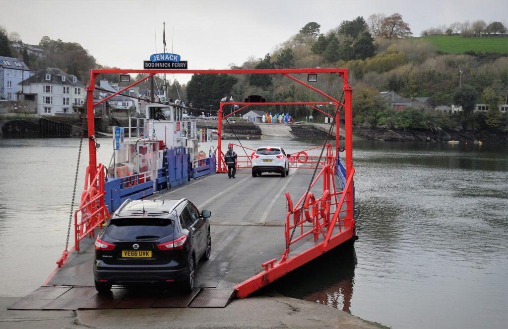 Coastal Road Trip, Bodinnich Ferry, Landing, Fowey, River Fowey