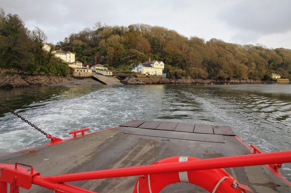 Coastal Road Trip, Bodinnich Landing, Ferry, River, Fowey, Crossing, Cornwall