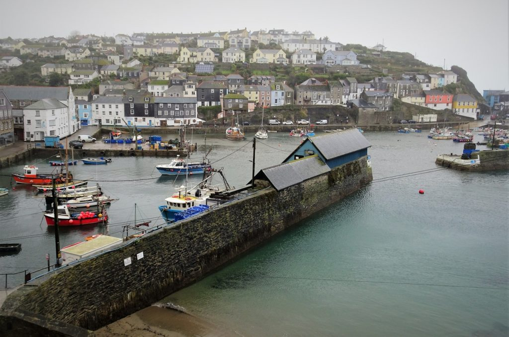 Coastal Road Trip, Mevagissey, Cornwall, Harbour, View, Raining