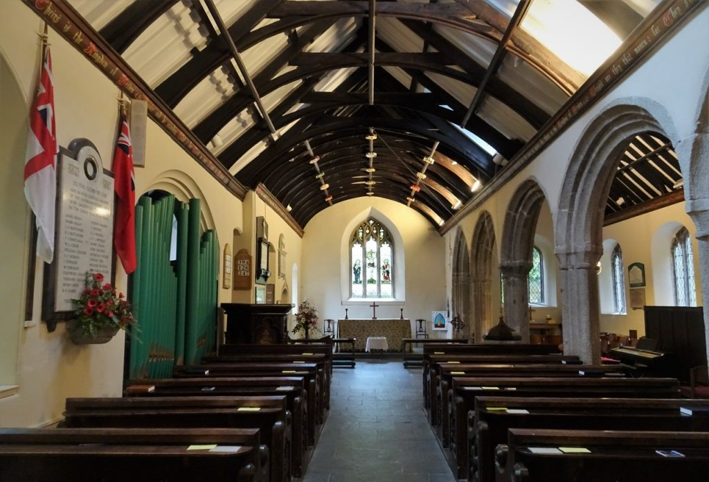 Coastal Road Trip, St Just in Roseland, St Just's Church, Nave, Interior, Altar