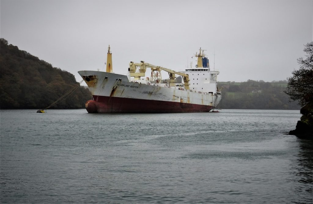 Coastal Road Trip, River Fal, Nederland Reefer, Ship