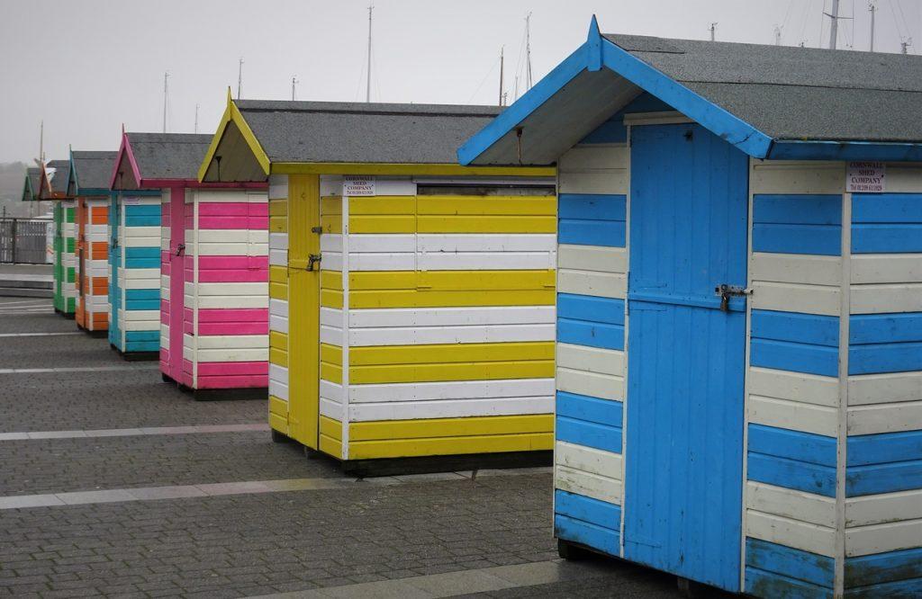 Coastal Road Trip, Falmouth, Beach Huts, Discovery Quay