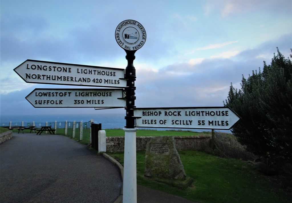 Coastal Road Trip, The Lizard, Sign Post, Heritage Centre