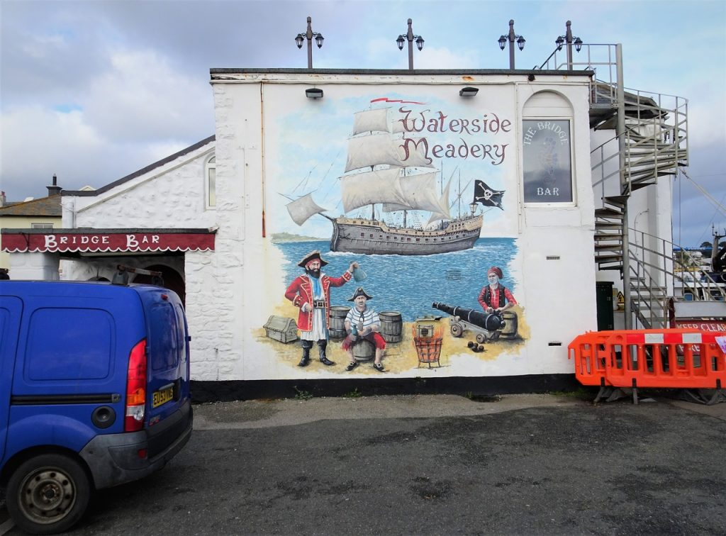 Coastal Road Trip, Penzance, Pirates, Mural. The Bridge Bar, Waterside Meadery