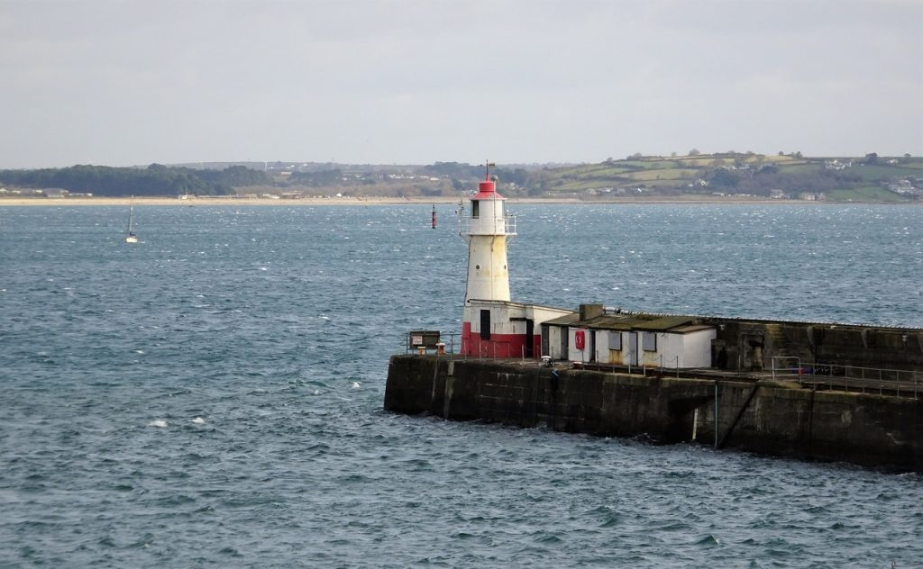 Coastal Road Trip, Newlyn South Pier Lighthouse, Harbour, Newlyn Pier and Harbour Commission