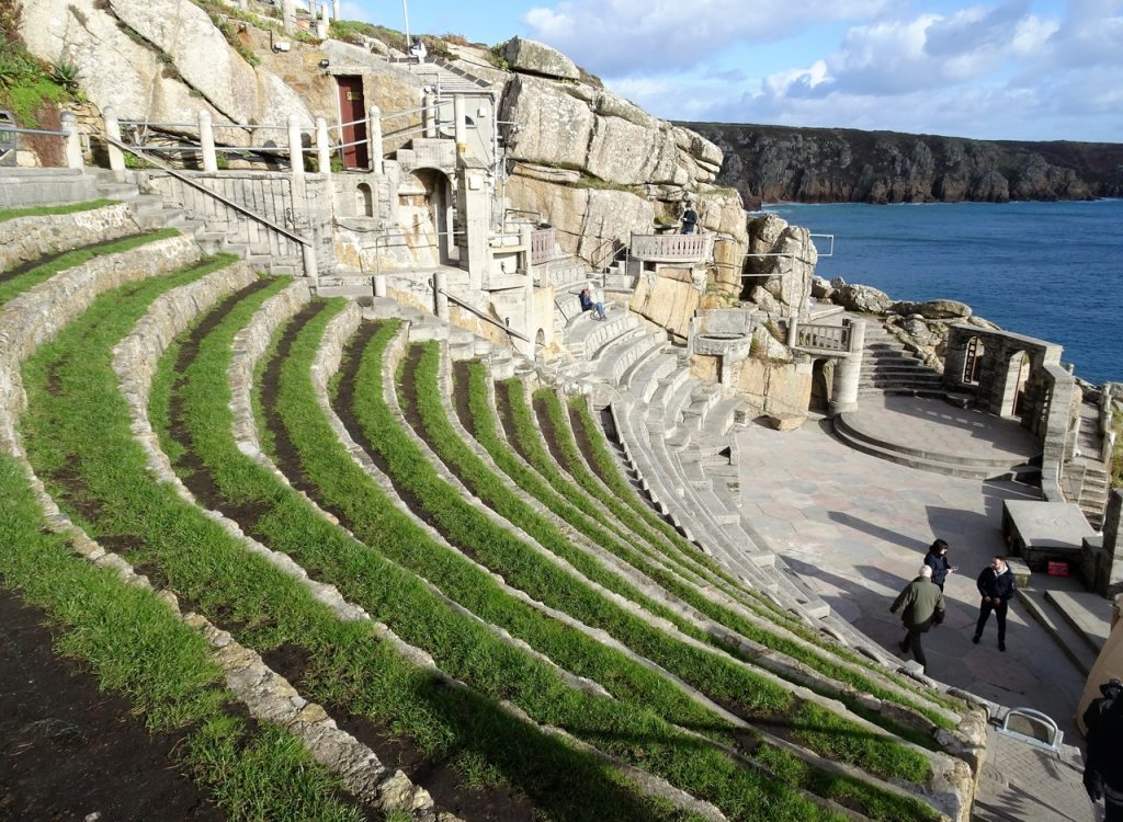 Coastal Road Trip, Porthcurno, The Minack Theatre, Tiered Seating, Stage, Cornwall