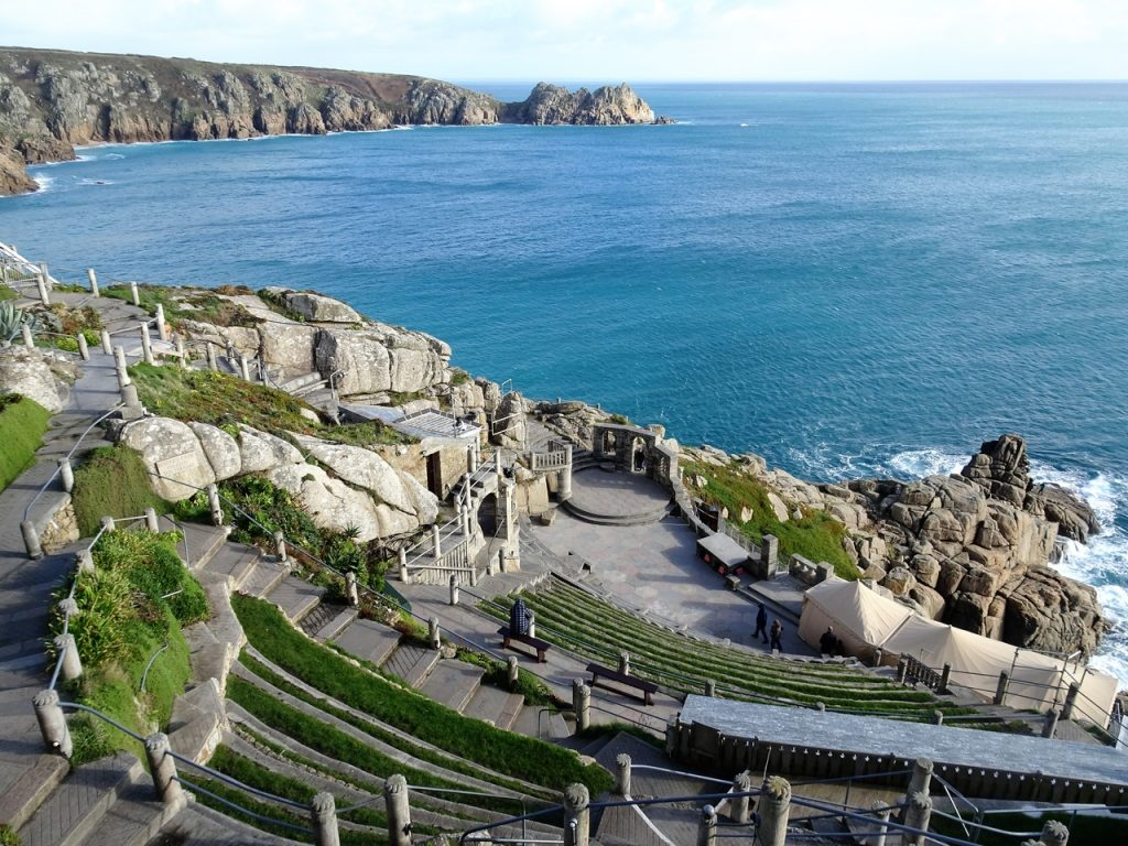 Coastal Road Trip, Porthcurno, The Minack Theatre, Open Air, Rowena Cade, Blue Sea