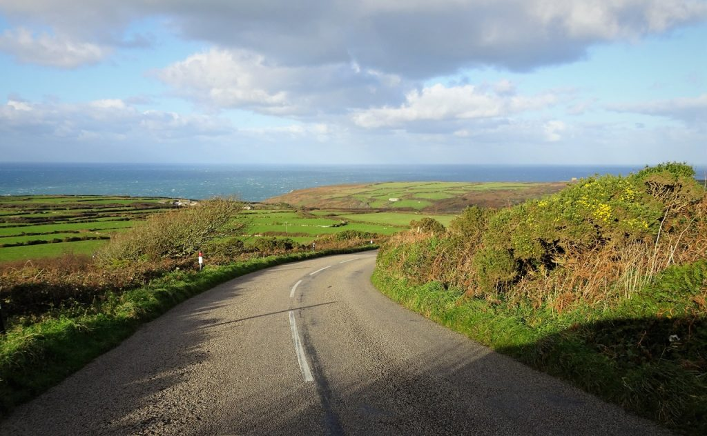 Coastal Road Trip, Zennor to St Ives, B3306, Road, Treveal, Atlantic Ocean