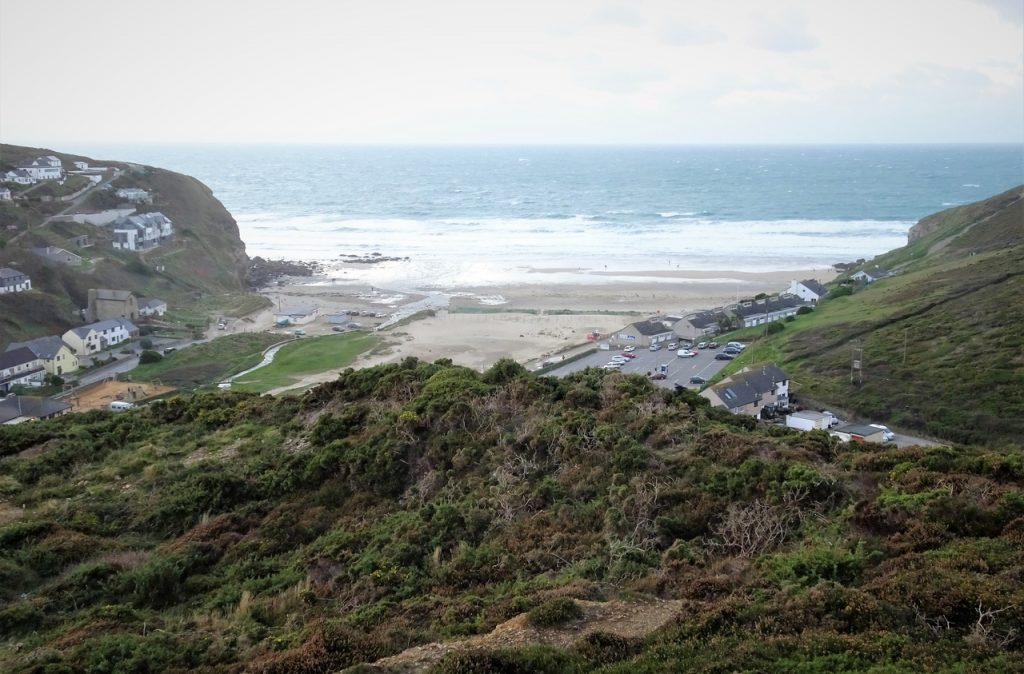 Porthtowan, Beach, Village, Cornwall