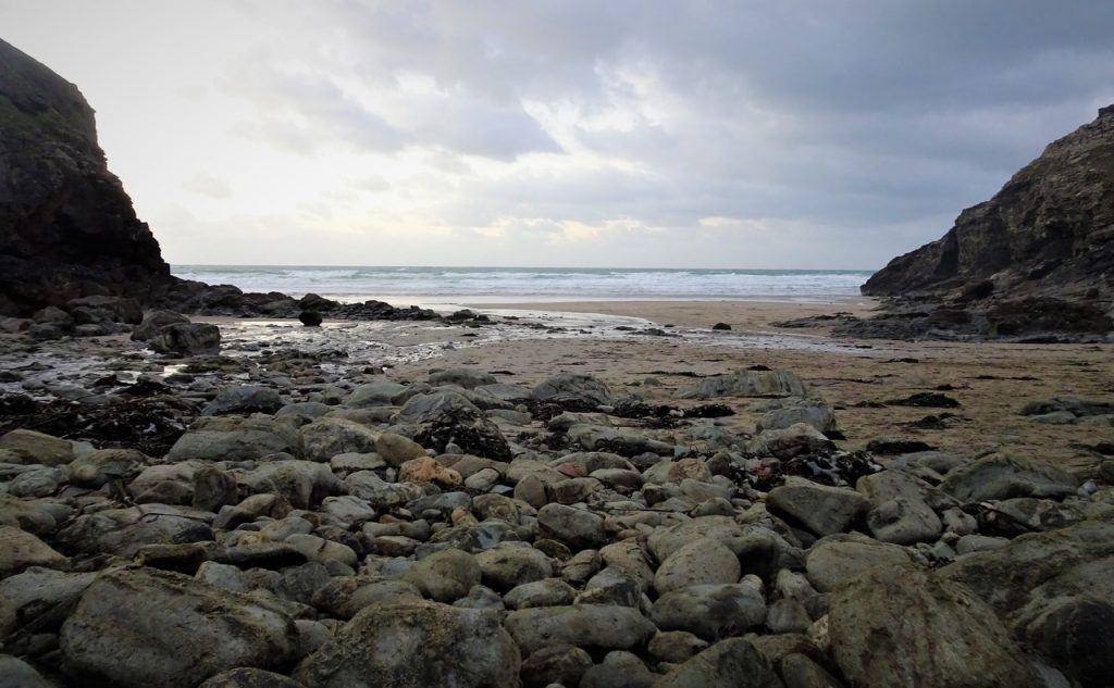 Coastal Road Trip, Chapel Porth Beach, Pebbles, National Trust, Cornwall