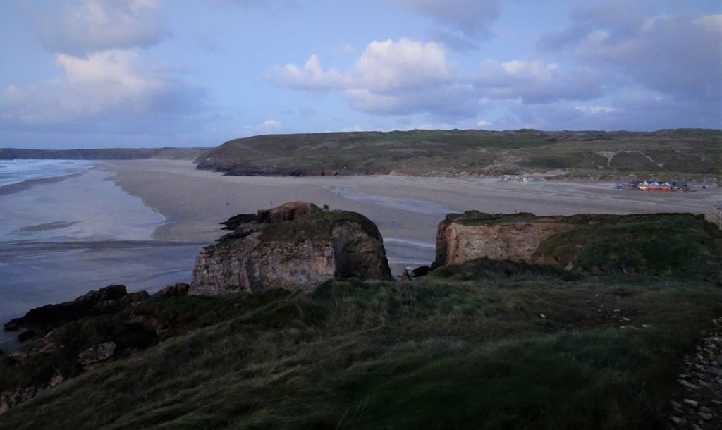 Coastal Road Trip, Perranporth Beach, The Watering Hole, Dusk