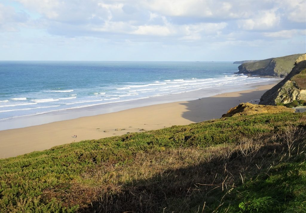 Coastal Road Trip, Watergate Bay, Beach, Cornwall, B3276
