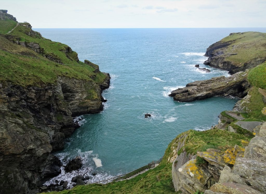 Coastal Road Trip, Tintagel Castle, English Heritage, Cove