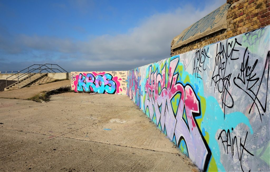 Coastal Road Trip, Shoeburyness, Gunners park, Shoebury Ness, Graffiti,