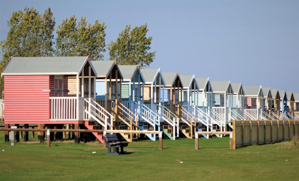 Coastal Road Trip, Leysdown-on-Sea, Beach Huts, Leysdown Coastal Park, Isle of Sheppey, Kent