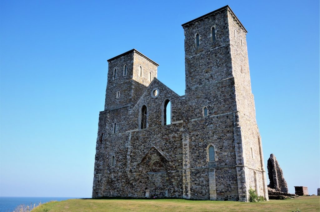 Coastal Road Trip, Reculver Towers, Roman Fort, Anglo-Saxon monastery, Church, English Heritage