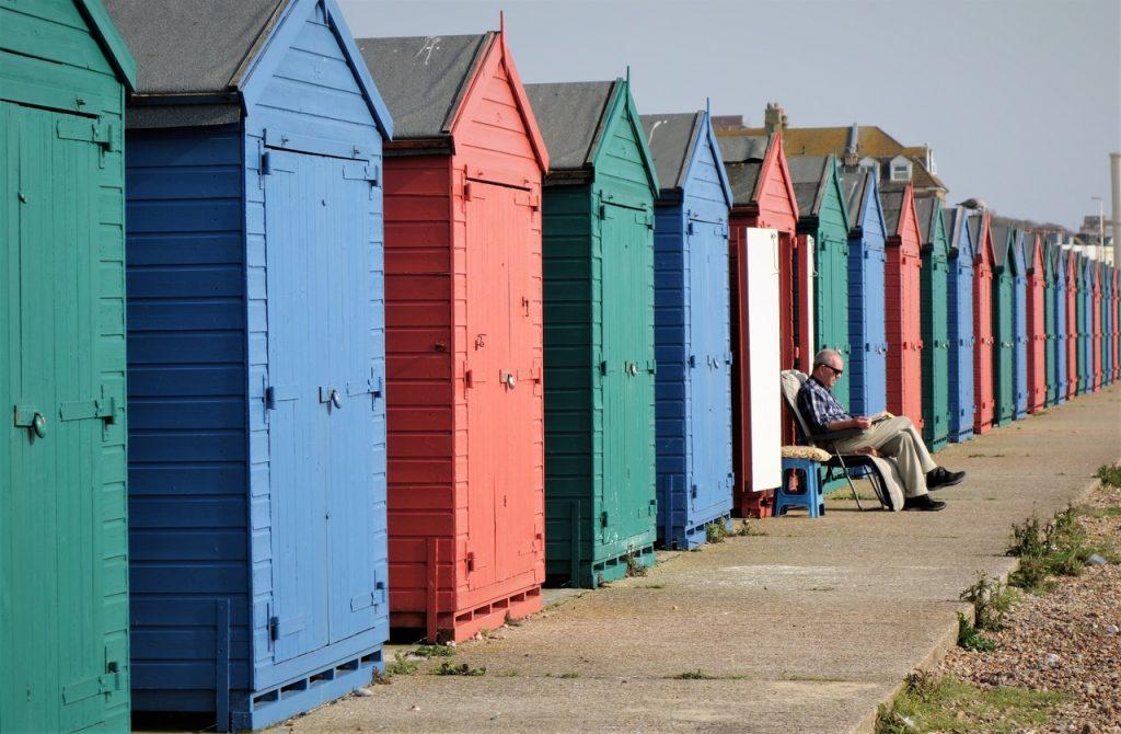 Coastal Road Trip, Bulverhythe Beach, Beach Huts