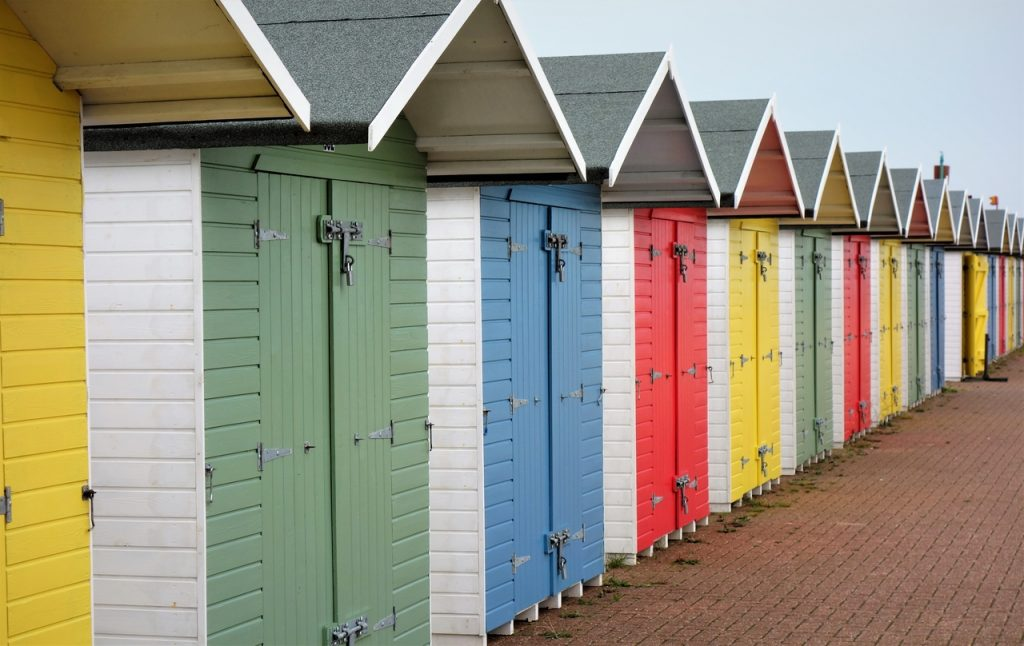 Coastal Road Trip, Eastbourne, Eastbourne Beach, Beach Huts