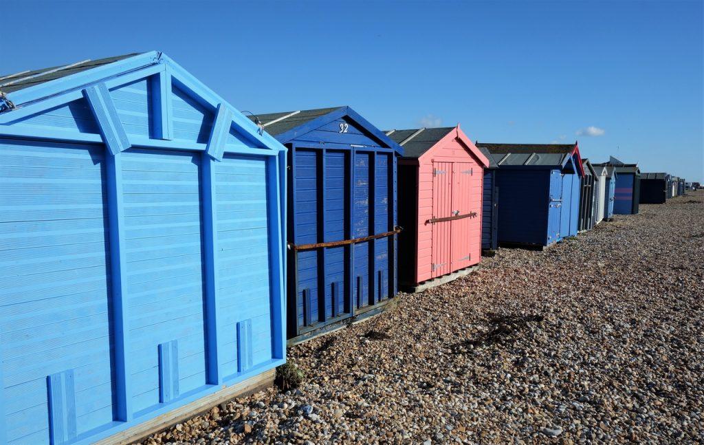 Coastal Road Trip, Hayling Island, Beach, Seafront, Beach Huts