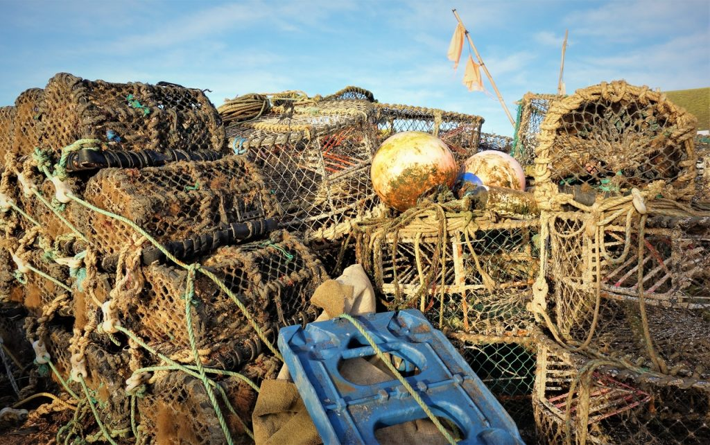Coastal Road Trip, Mudeford Quay, Fishing Nets, Lobster Pots