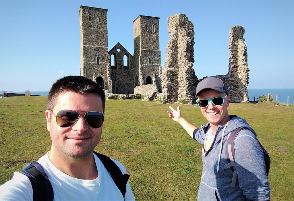 Coastal Road Trip, Reculver Towers, Roman Fort, Anglo-Saxon monastery, Church, English Heritage, Julian, Jarno