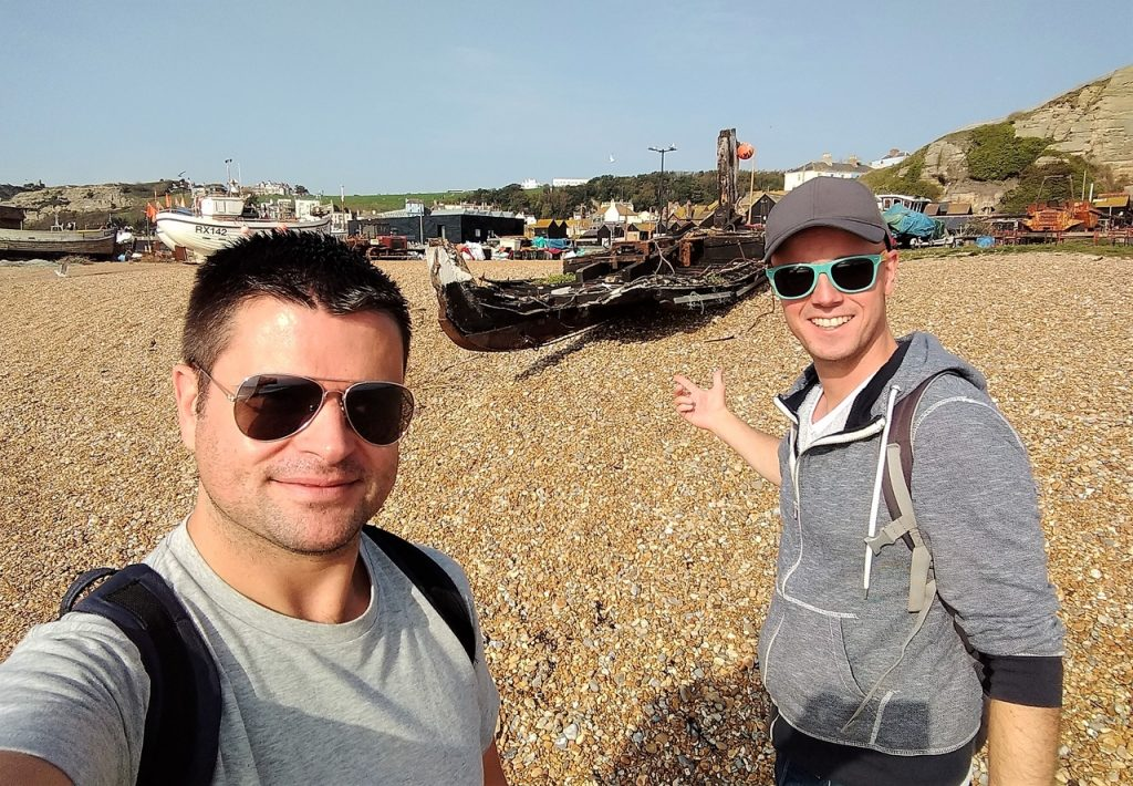 Coastal Road Trip, Hastings, The Stade, Beach, The Old Town, Fishing Boats, Julian, Jarno