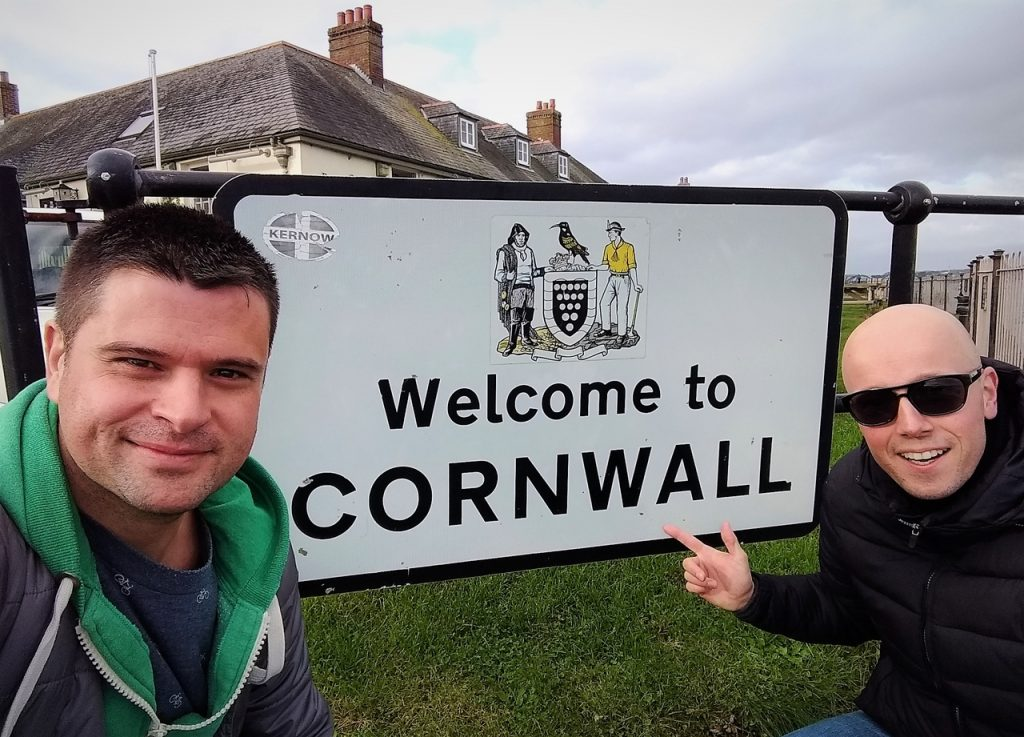 Coastal Road Trip, Cremyll, Welcome to Cornwall, Sign, Julian, Jarno