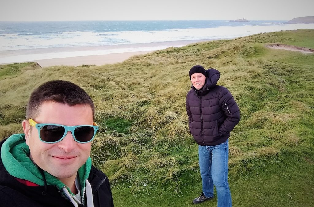 Coastal Road Trip, Gwithian Beach, St Ives Bay, Windy, Julian, Jarno